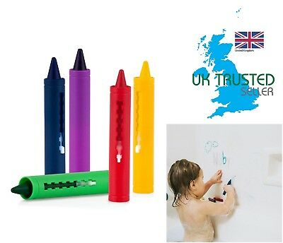 Baby Bath Crayons Fun In The Bath Non Toxic Toy Kids Art Drawing Pens Paint 5pk