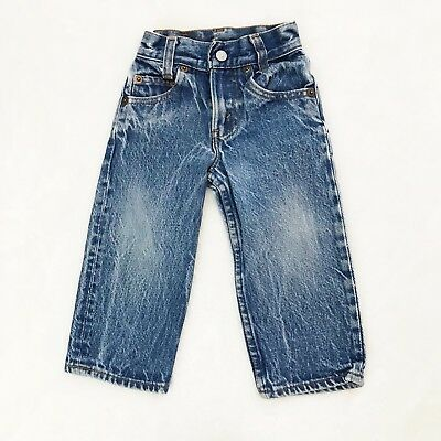 Vintage Levi's Toddler Baby Jeans Denim 302-0117  Sz 0 10x13 USA Measured 9x12