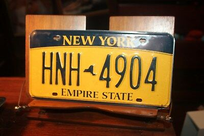 2010 New York Empire State License Plate  HNH 4904