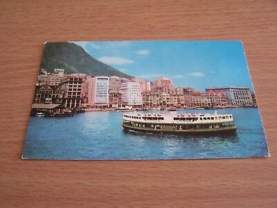 Hong Kong Water Front Victoria City Star Ferry Vintage RP Postcard Asia China