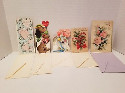 Vintage Valentines Day Cards - Lot of 5