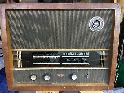 Murphy Radio A.242 Table Receiver untested due to age. Cabinet needs attention.
