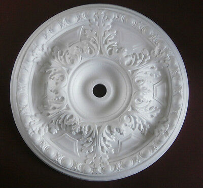 "Ceiling Rose Large Size 490mm (19"") 'Claremount' Quality Polystyrene Rose"