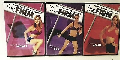 3 The Firm FAST & FIRM SERIES Set: Hips, Thighs, ABS Lower Body & Cardio + BONUS