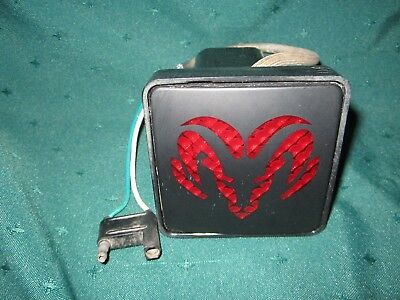 Dodge 'Ram' Light-Up Trailer Hitch Cover~Plastic~VG~Not Tested