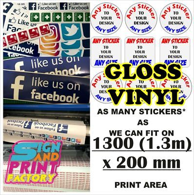 Custom Vinyl Stickers Labels Decals Logo Bulk Printed Cut To Any Shape And Size