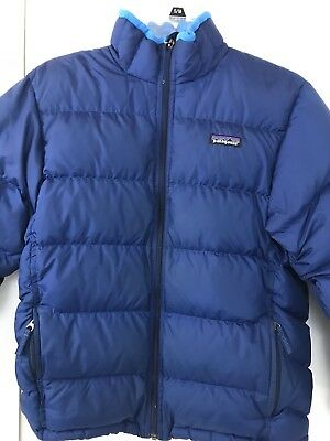 PATAGONIA BLUE GOISE DOWN PUFFER JACKET SIZE Kids L 10-12 Pre-Owned