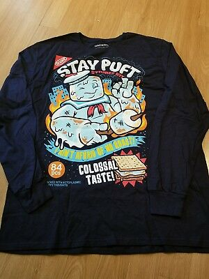 Loot Crate DX Ghostbusters Stay Puft Marshmallow Long-Sleeve Medium T-Shirt NEW