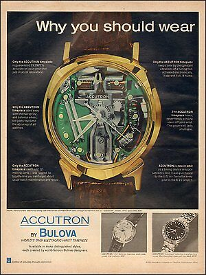 1966 Vintage ad for BULOVA`Accutron Watch Photo Electron two styles (083016)
