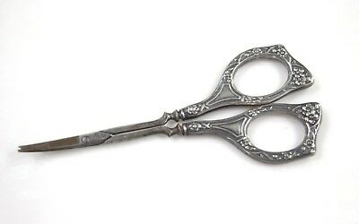Antique Sterling Silver Poultry Scissors Made In Germany Signed G.w.