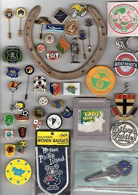 Grandad's Big Vintage Junk Draw Bulk Lot - Pins Badges Mementos & More Free Post