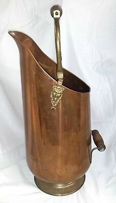 Large Vintage Copper Brass Pitcher Kitchen Decor Lion Decorative Jug Flower Vase