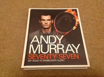 Andy Murray   - Seventy Seven   - Signed  Tennis  Hard Back Book    -  Authentic
