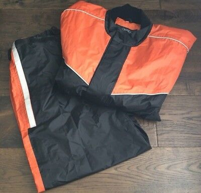Himalaya Motor Bike Wear Rain Gear Suit Orange Black Size M