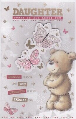 Daughter Happy Birthday Greeting Card Large Verse Insert Special Keepsake Colour