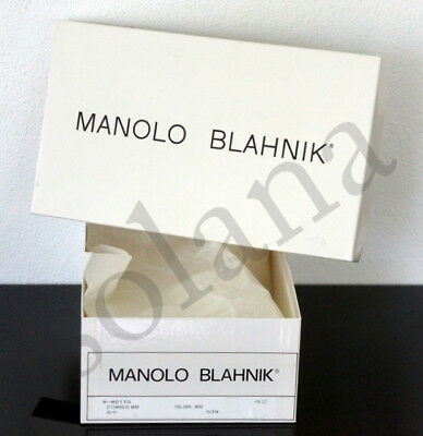 Manolo Blahnik Empty Shoe Box for Wedge Platform Sandals Pump made in Italy