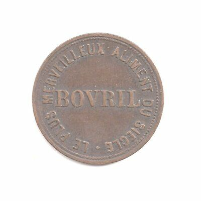 ENGLAND Æ FARTHING TOKEN BOVRIL ADVERTISING ~ND~ (ca.1890's) VERY FINE