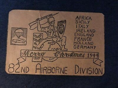 Rare 1944 82nd Airborne Division Christmas Card
