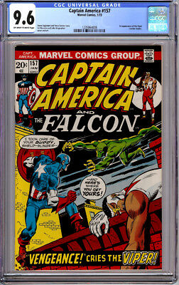 CAPTAIN AMERICA #157 CGC 9.6 OW/WHITE PAGES 1st VIPER 1973