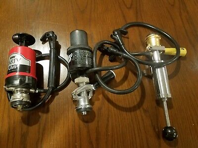 Keg Beer Taps (3), Micro-Matic, Bronco Pump, and Perlick Party Pump, Used
