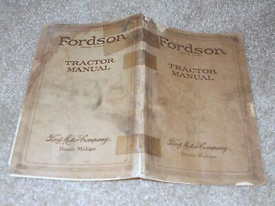 Vintage 1924 Fordson Tractor Manual Ford Motor Co. Detroit Michigan