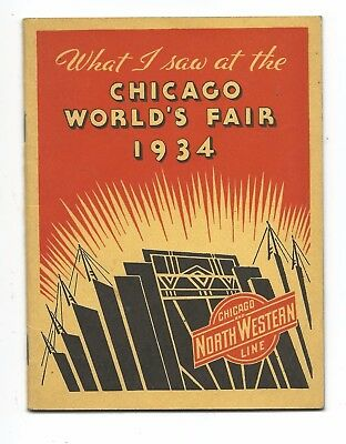 1934 What I saw at the Chicago World's Fair 16 page notebook & photos   #cpie16