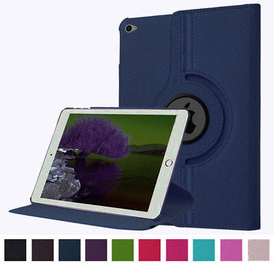 Leather Folio Rotating Stand Smart Wake Case For iPad Pro 9.7 12.9 6th 234 Cover