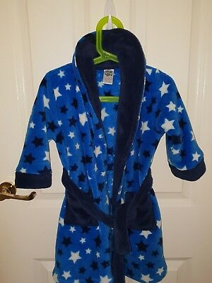 Toddler Boys size 2 Blue Dressing Gown With Attatched Belt