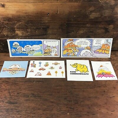 Group Of Vintage Commonwealth Bank Dollarmites Advertising Stickers