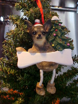 Chihuahua Black & Tan   ~ Dangling Ornament #11