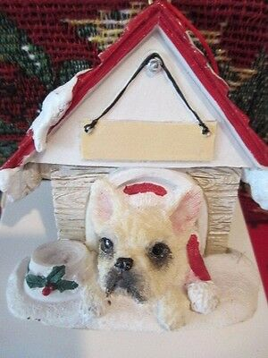 French Bulldog Cream  ~ Doghouse  Ornament  ~ #64A