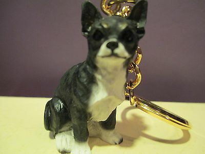 Chihuahua Black & White ~ Key Chain ~ Great Gift Item