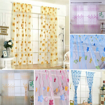 Window Screening Tulle Curtains Voile Curtain Window Curtain For Living Room New