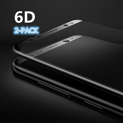 2PCS luxury 6D 9H TEMPERED GLASS FILM LCD SCREEN PROTECTOR FR SAMSUNG NOTE 8 lot