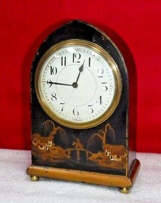 Antique French Duverdrey & Bloquel Chinoiserie Mantel Clock 8 Day Working H &  H