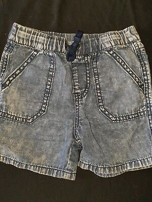 Toddler Boys size 1 Pull On Denim Style Shorts