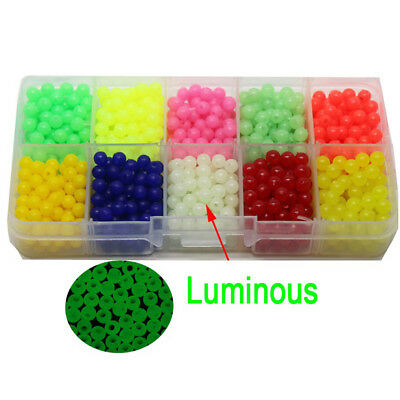 1000Pcs Oval Luminous Fishing Beads Sea Fishing Lure Floating Float Tackle Healt