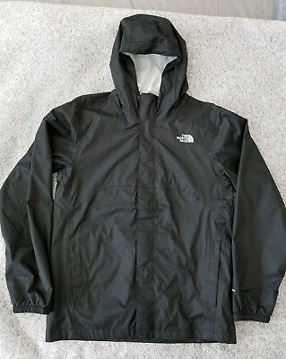 Boys The North Face Dryvent Black Hooded Rain Jacket Size XL (Age: 18/20)