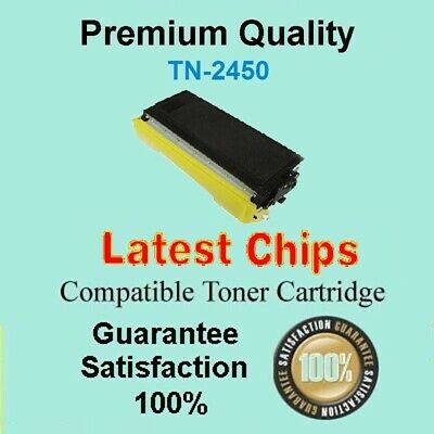 1x TN2450 TN-2450 WITH CHIP Toner Compatible for Brother HL L2350DW HL L2375DW