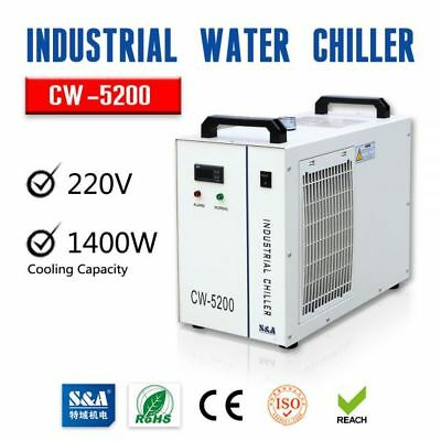 CW-5200AH Water Chiller for a Single 8KW Spindle/One 130-150W CO2 Laser Tube