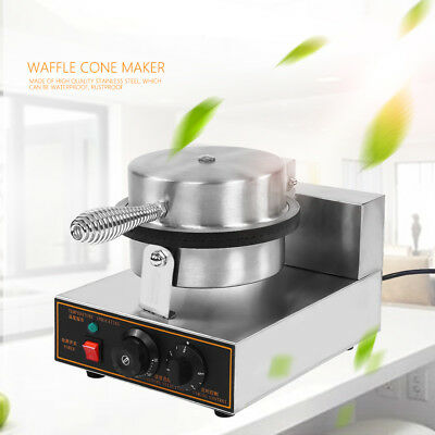 Electric Stainless Steel Ice Cream Egg Waffle Cone Maker Machine 110/220V