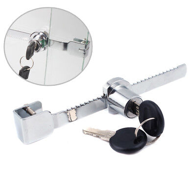 Alloy Sliding Glass Door Ratchet Lock with 2 Keys for Cabinet Showcase Security