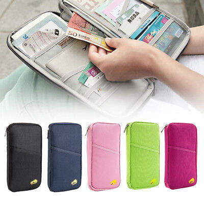 Travel Wallet Passport Holder Organiser Pouch for Cards Documents Money IDs Bags