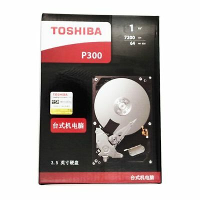 "Toshiba 1TB P300 for PC Desktop HDD Hard Drive Disk 6Gb/s 3.5"" Sata3  7200rpm"