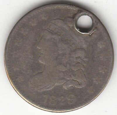 1829 U.S.A. Liberty Cap Half Dime | Pennies2Pounds