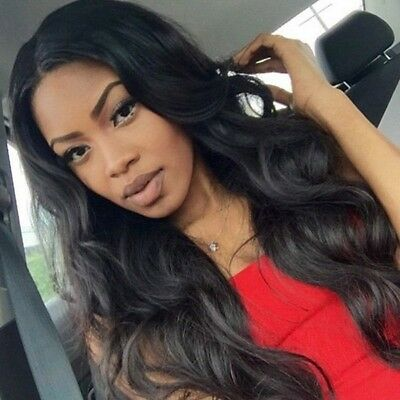 "Synthetic hair wig for women Jet Black 24"" Long"
