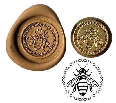 Honey Bumble Bee Wax Stamp Seal Starter KIT or Bee Coin Design  XWS039B/XWSC100