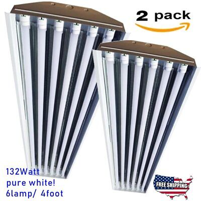 2Packs Warehouse LED High Bay Light 32,000 lm 132W Replace Metal Halide Lamps VI