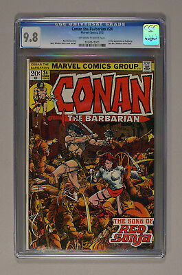 Conan the Barbarian #24. CGC 9.8 First full appearance Red Sonja