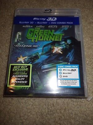 The Green Hornet (Blu-ray/DVD, 2011, 3-Disc Set, 3D/2D) DIGITAL SEALED BRAND NEW